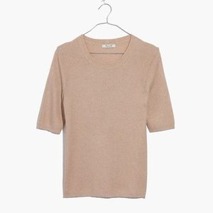 Madewell Ribbed Evening Sparkle Top